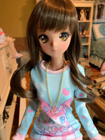 Doll Fairy Signature Crystal Heart Necklace for Smart Dolls/ SD size BJD - The Doll Fairy