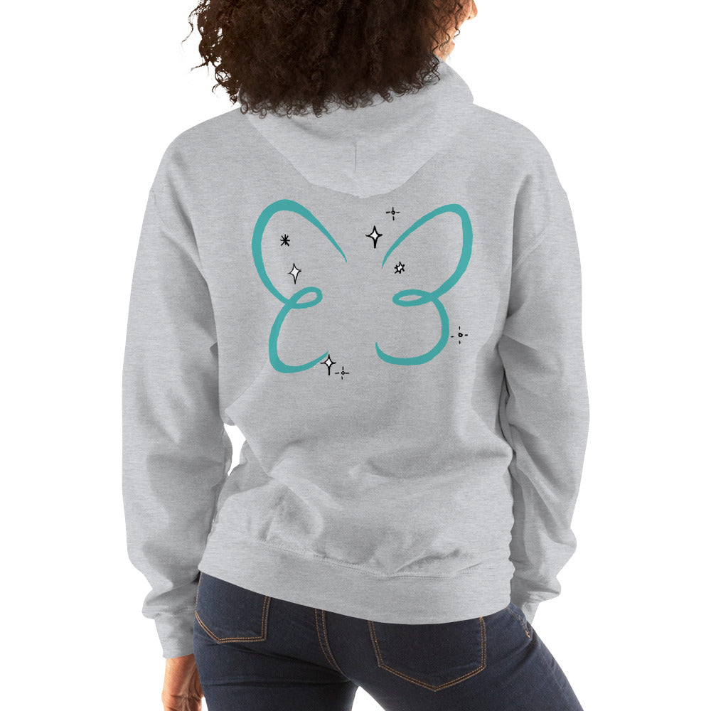 Doll Fairy Wings Unisex Hooded Sweatshirt (White, Gray) - The Doll Fairy