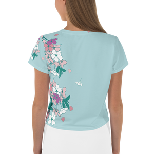 Doll Fairy Floral Crop Tee - The Doll Fairy