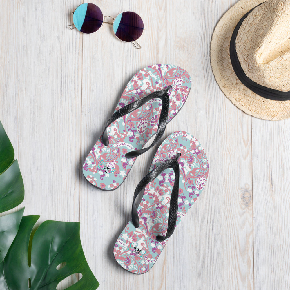 Doll Fairy Tropical Brocade Flip-Flops - The Doll Fairy