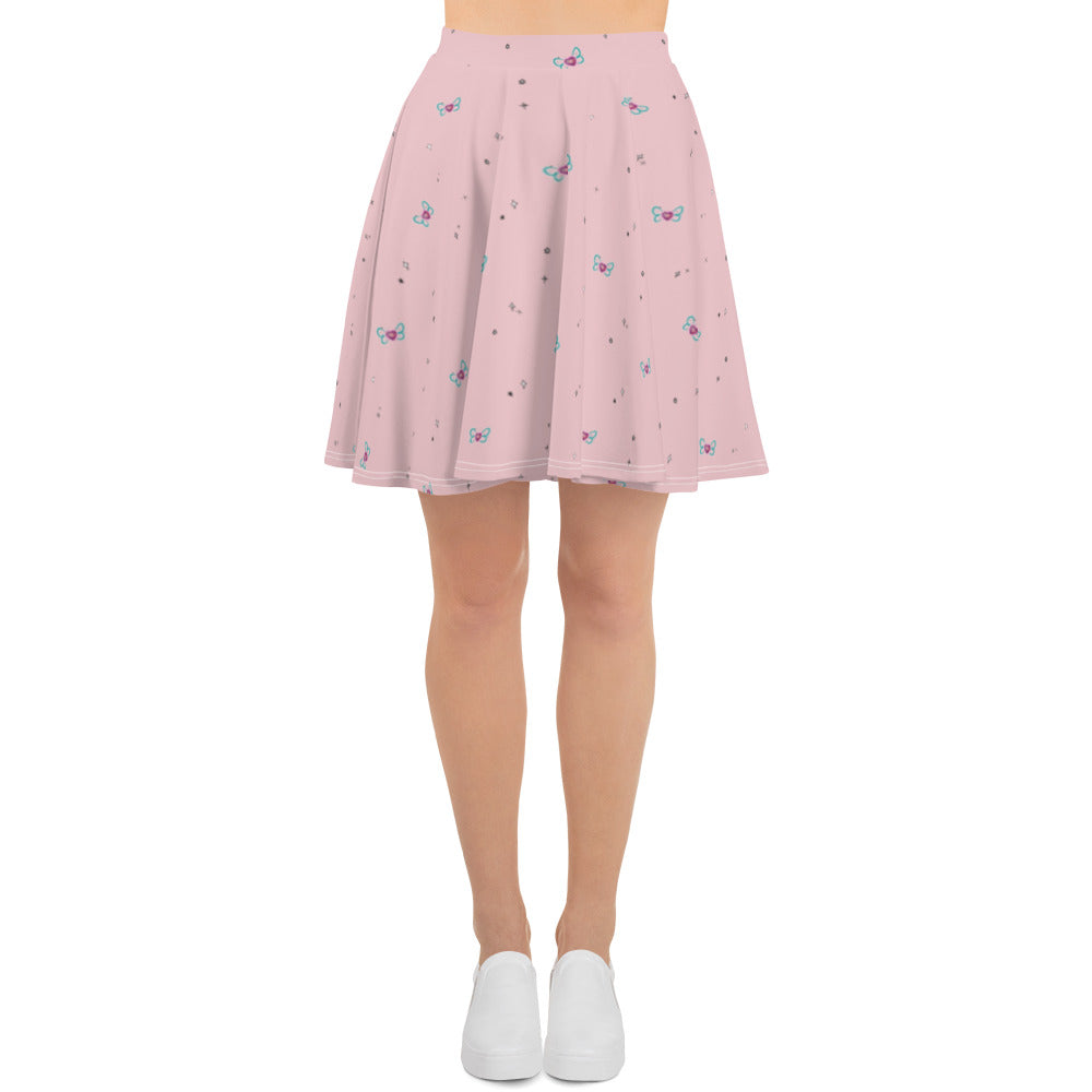 Doll Fairy Crystal Heart Skater Skirt - The Doll Fairy
