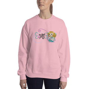 Doll Fairy Wings Crewneck Sweatshirt (Pink) - The Doll Fairy