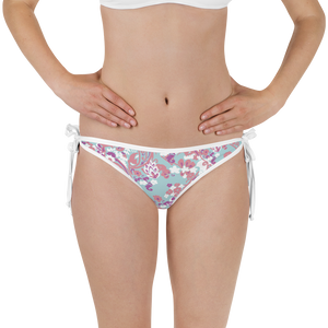 Reversible Doll Fairy Floral + Tropical Brocade Bikini Bottom - The Doll Fairy