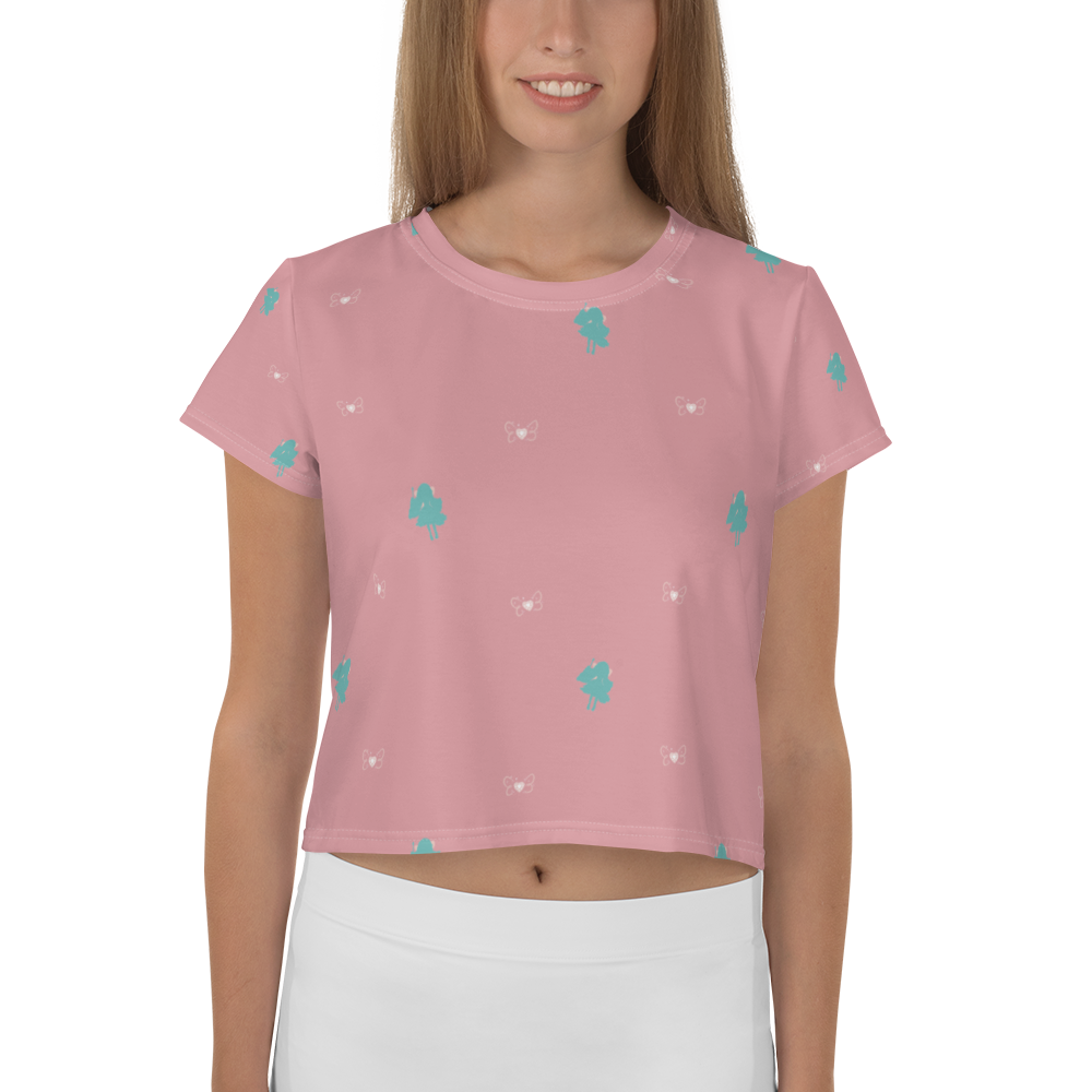 Doll Fairy Silhouette Crop Tee - The Doll Fairy
