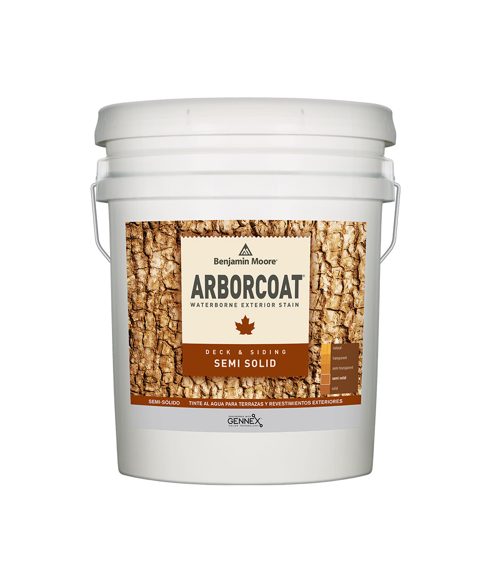Arborcoat Semi-Solid 5 Gallon Pail, available at Catalina Paints in CA.