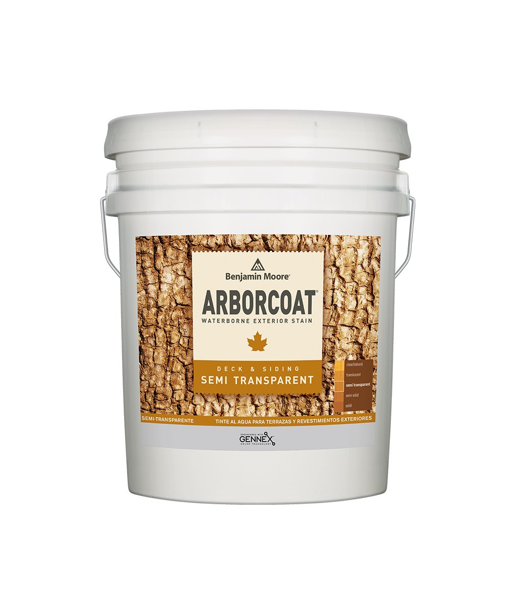 Arborcoat Semi-Transparent 5 Gallon Pail, available at Catalina Paints in CA.