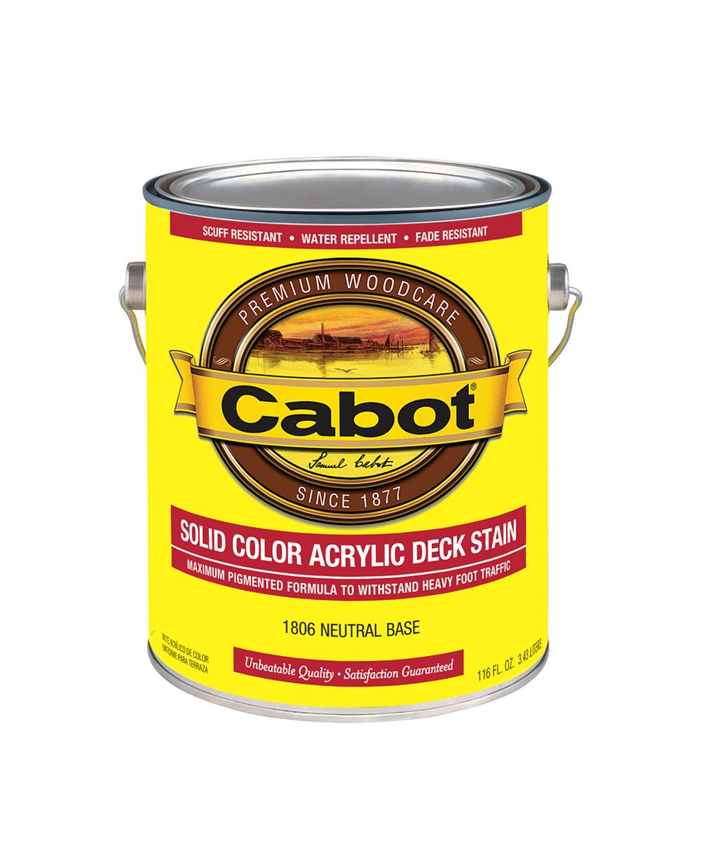 Cabot Solid Color Decking Acrylic Stain Gallon, available at Catalina Paints in CA.