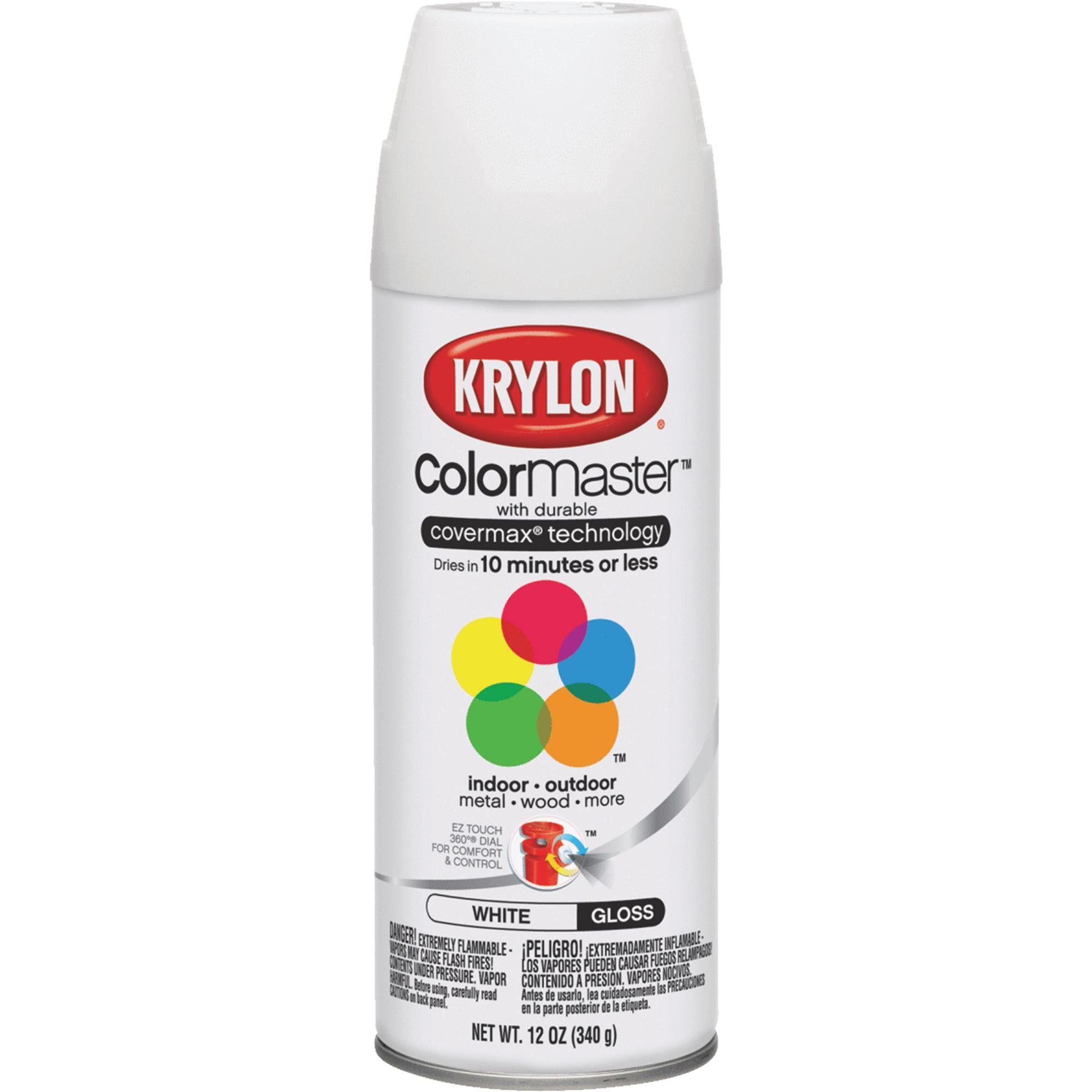 Krylon spray paint, available at Catalina Paints in CA.