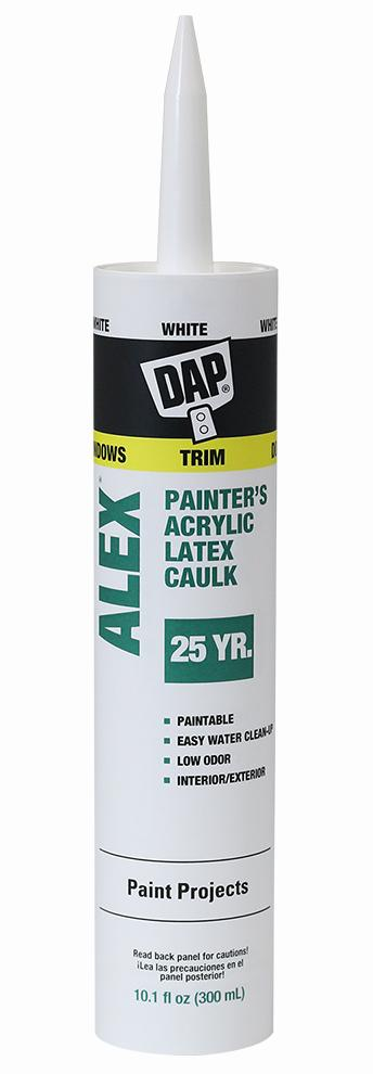 Dap Alex Caulk, available at Catalina Paints in CA.