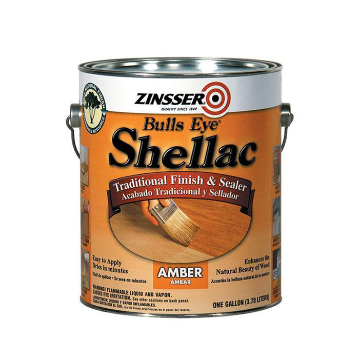 Zinsser Bulls Eye Shellac Finish & Sealer - Amber