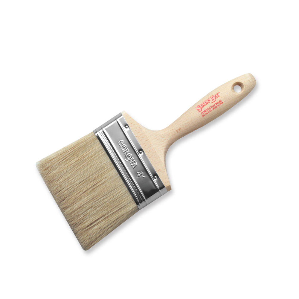 "Corona Stain•Eze™ bristle brush 4"",  available at Catalina Paints, serving the Los Angeles County."