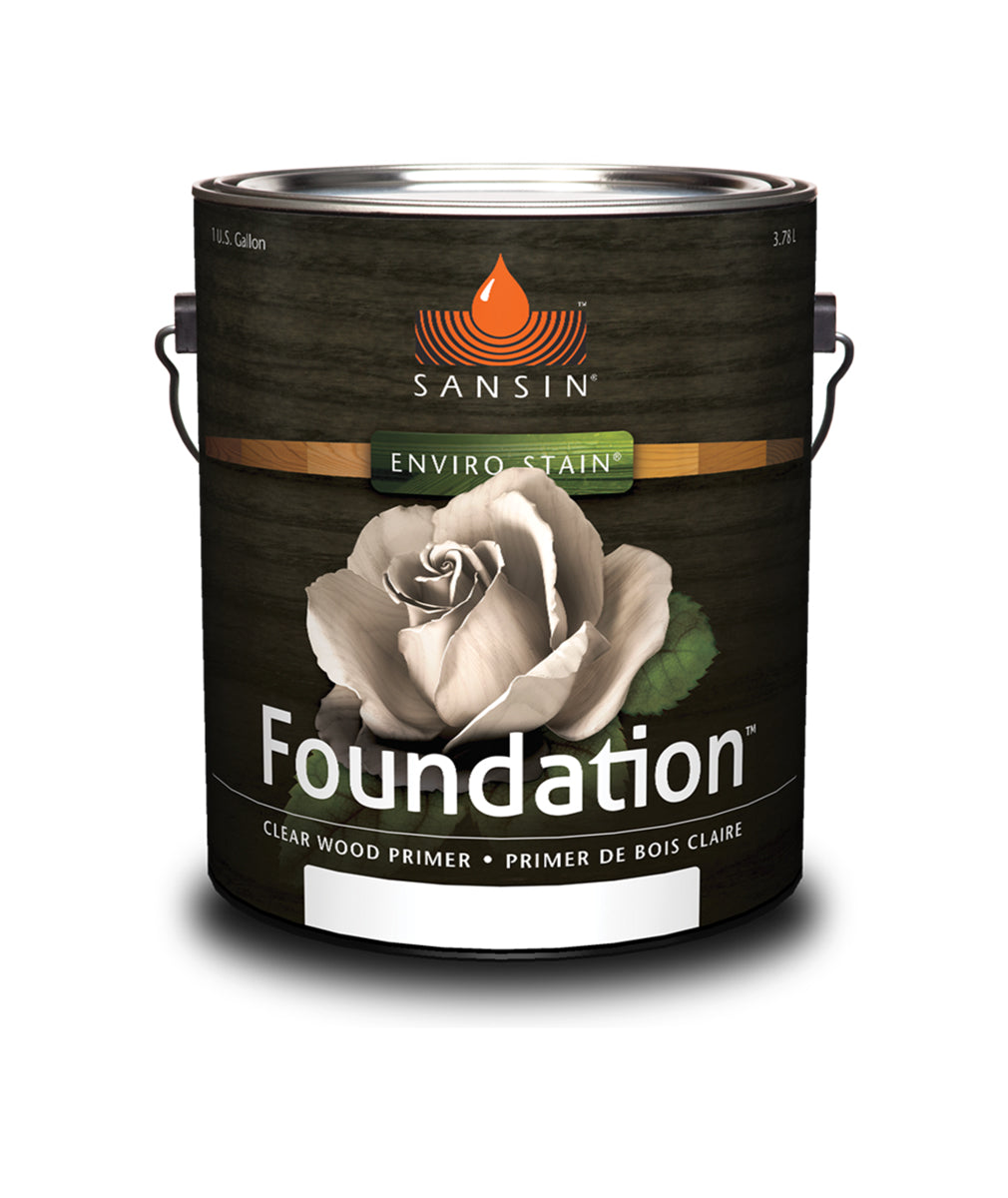 Sansin Foundation clear wood primer, available at Catalina Paints in CA.