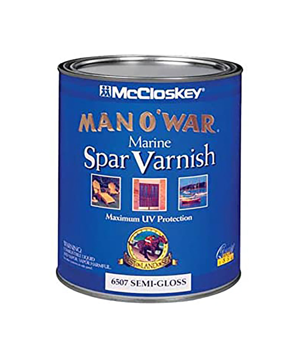 McCloskey Man O War Varnish in semi-gloss, available at Catalina Paints in CA.