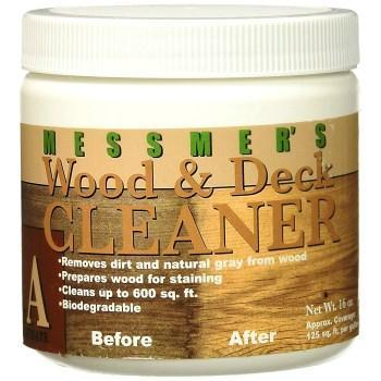 Messmer's Wood and Deck Cleaner, available at Catalina Paints in CA.