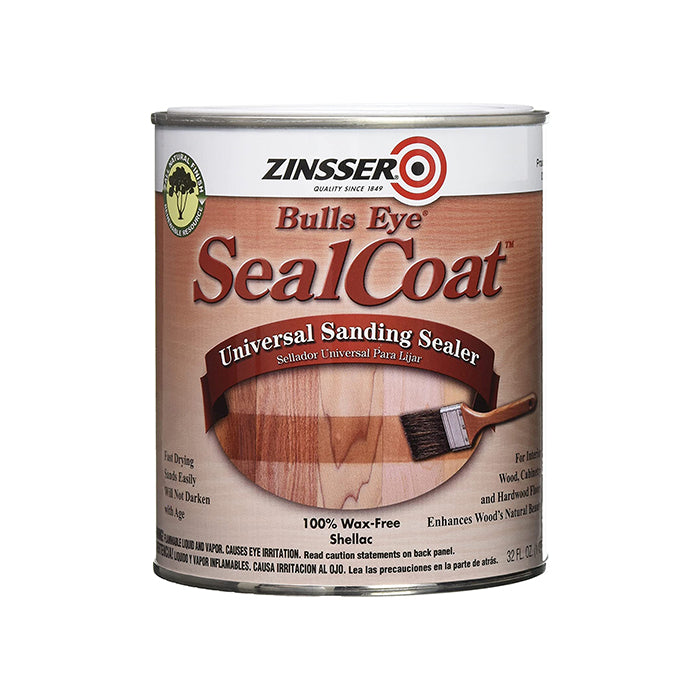 Zinsser seal coat shellac sanding sealer, available at Catalina Paints in CA.
