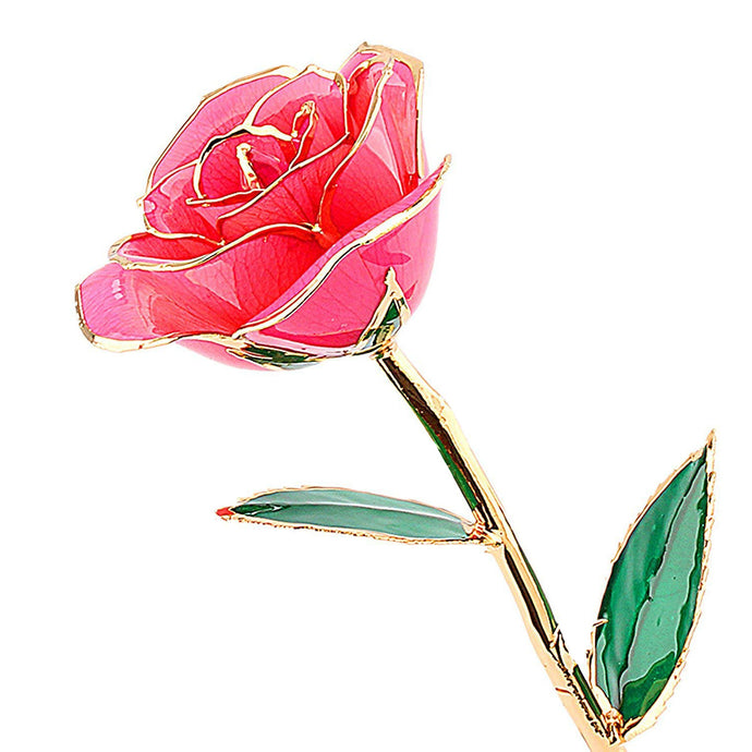 Gold Pink Rose from Real Natural Rose