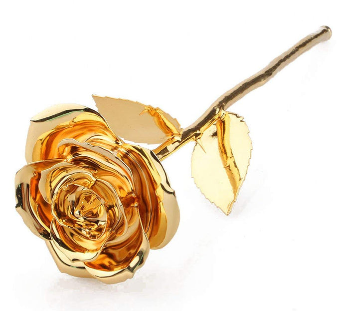 Gold Dipped Rose in Gift Box