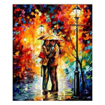 Modern Art Styles  Kiss Under The Umbrella Diamond Painting Kits AF9412
