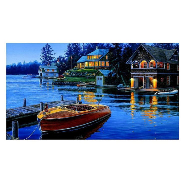 5d Diy Diamond Painting Kits Boats AF9005