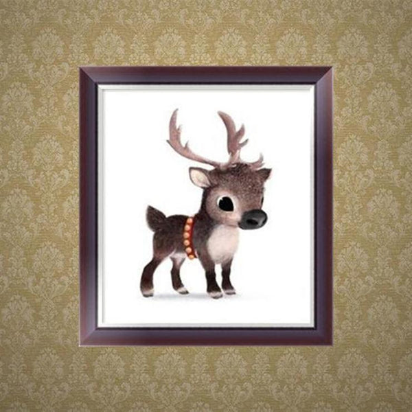 Cartoon Styles Lovely Deer Diamond Painting Kits For kids AF9132