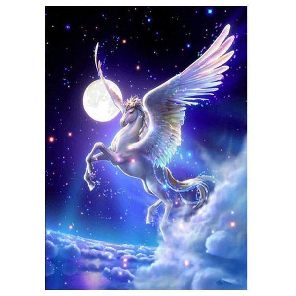 5D Diamond Painting Kits For Kids Beautiful Fantasy Flying Horse AF9181