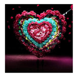5D Diy Diamond Painting Kits Valentines Day Flowers Heart AF9430