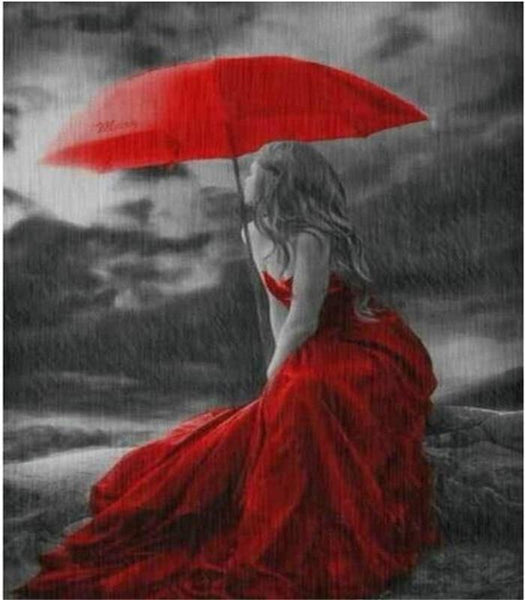 2019 5d Diy Diamond Painting Kits Art Red Umbrella VM9217