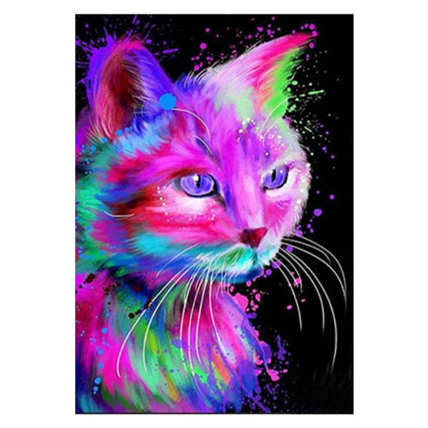 5d Diy Diamond Painting Kits Special Cat QB7015
