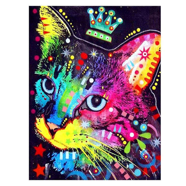 5d Diy Diamond Painting Kits Special Bedazzled Cat  QB7094