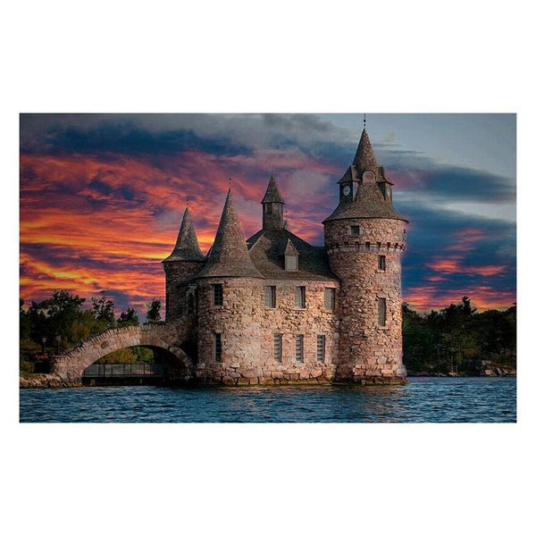 2019 5d Diy Diamond Painting Kits Castle In The Water QB5343
