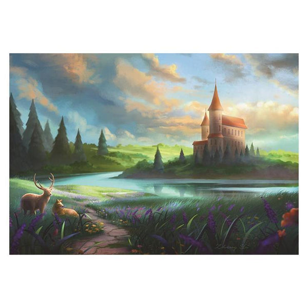 New Cross Stitch Pattern Dream Castle 5d Diy Diamond Painting Kits QB5346
