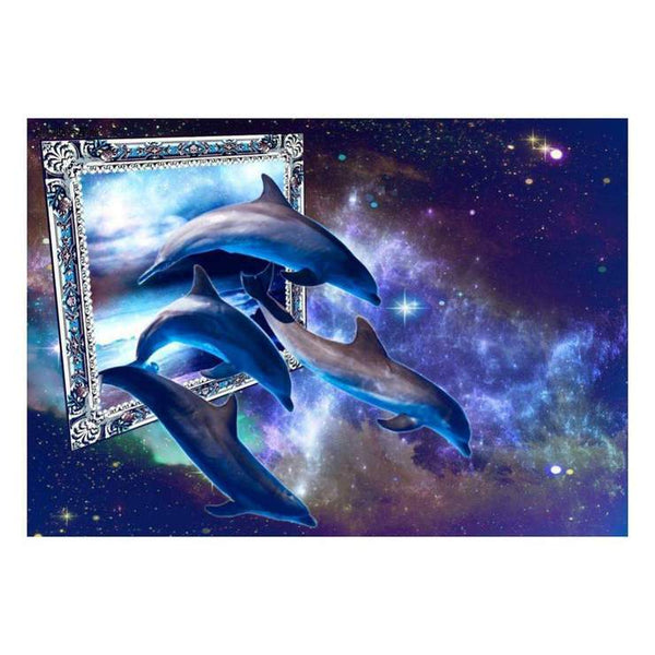 Fantasy Dream Dolphin 5d Diy Cross Stitch Diamond Painting Kits QB6531