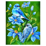 2019 5d DIY Diamond Painting Kits Blue Bird with flower QB5808