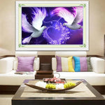 New Arrival Dream Dove Pattern Diy 5d Mosaic Full Diamond Painting Kits QB5810
