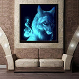 2019 5d Diy Diamond Painting Kits Wolf Protrait VM7393
