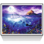 5d Diy Diamond Painting Kits Best Fantasy Mystical Dolphin QB7103