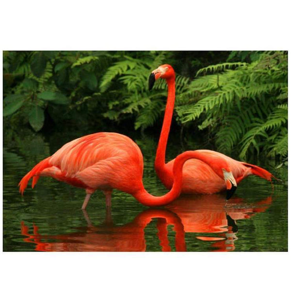 For Beginners Flamingos 5d Diy Cross Stitch Diamond Painting Kits QB6451