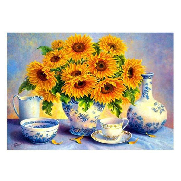 5d Diy Cross Stitch Diamond Painting Kits Sunflower QB6412