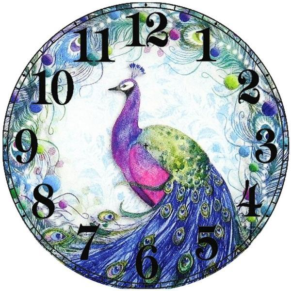 2019 5D DIY Diamond Painting Kits Peacock Clock VM90177