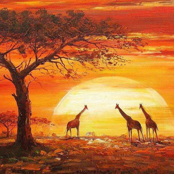 2019 5D Diy Diamond Painting Kits Giraffe Sunset VM90187
