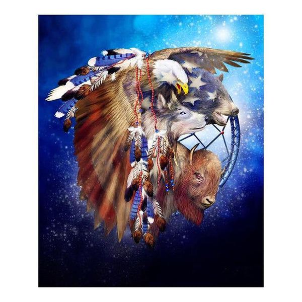 2019 5d Diy Diamond Painting Kits Eagle Feather VM3682 (1767010238554)