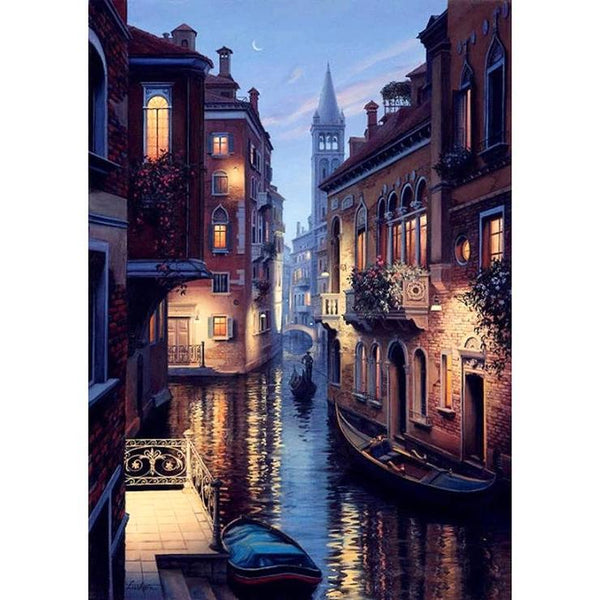 2019 5d DIY Diamond Painting Kits Landscape Town QB5349