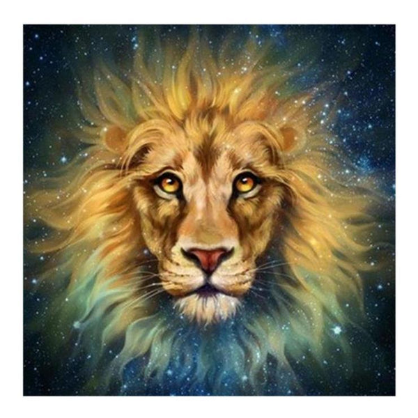 Dream Oil Painting Style Animal Lion 5d Diy Cross Stitch Diamond Painting Kits QB6425