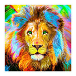 Dream Watercolor Animal Lion 5d Diy Cross Stitch Diamond Painting Kits QB6426