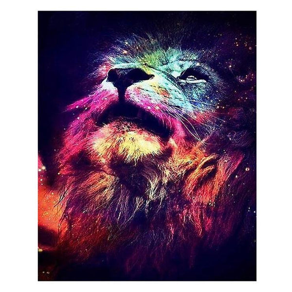 Full Drill Special Lion Pattern 5d Diy Cross Stitch Diamond Painting Kits QB6427