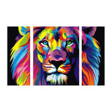 Multi Panel Lion Embroidery 5D DIY Full Drill Diamond Painting Kits QB6428