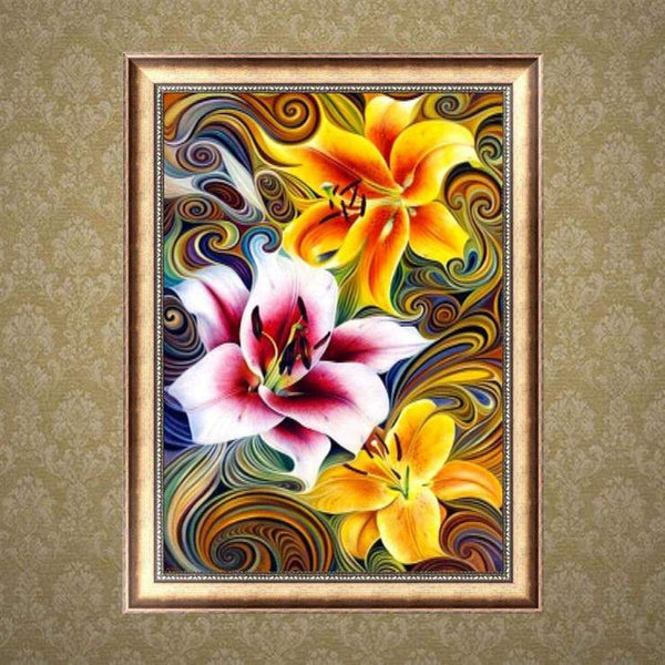 2019 5d Diy Diamond Painting Kits Art Colorful Flower VM71861