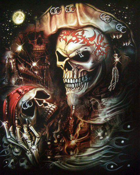 2019 5d Diy Diamond Painting Kits Pirate Skull NA0905