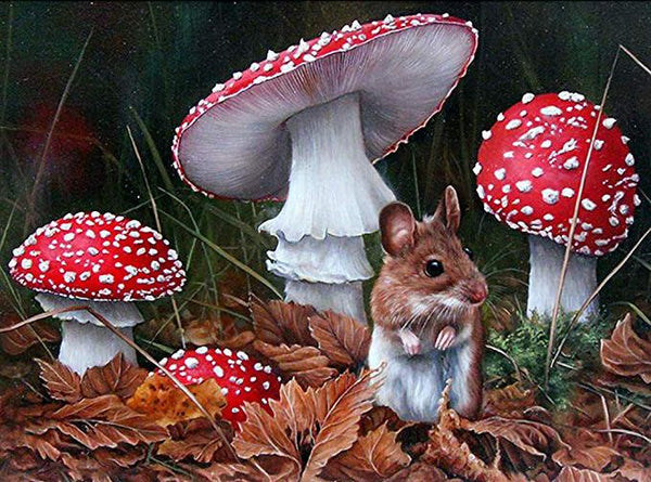 2019 5D Diy Diamond Painting Kits  Mouse&Mushroom