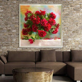 5d Diy Diamond Painting  Beautiful Red Flower  VM1981 (1766968852570)